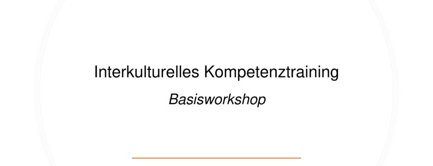 "Kick-Off – ""Interkulturelles Training – Basisworkshop"" zur Diversity Woche am 16. November"